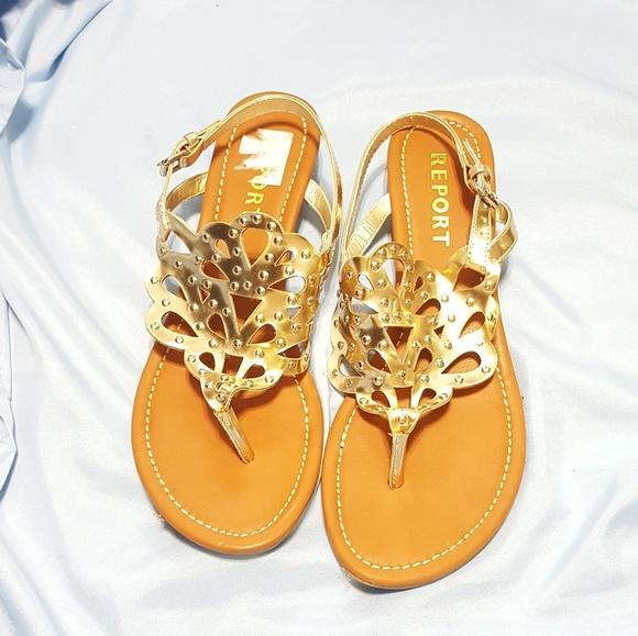 Report Lysa Gold Gladiator Sandal Size 7
